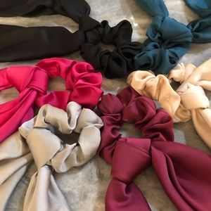 Accessories - Pack of 6 Long Rabbit Ear Scrunchies
